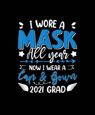 Рисунок выпускного колпака - 2021 Выпускной Носил маску весь год Теперь я ношу колпак от Ивонн Ремик