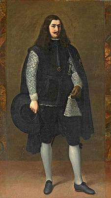 A Knight of Alcantara or Calatrava Print by Bartolome Esteban Murillo