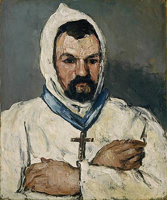 Antoine Dominique Sauveur Aubert, the Artist's Uncle as a Monk Print by Paul Cezanne