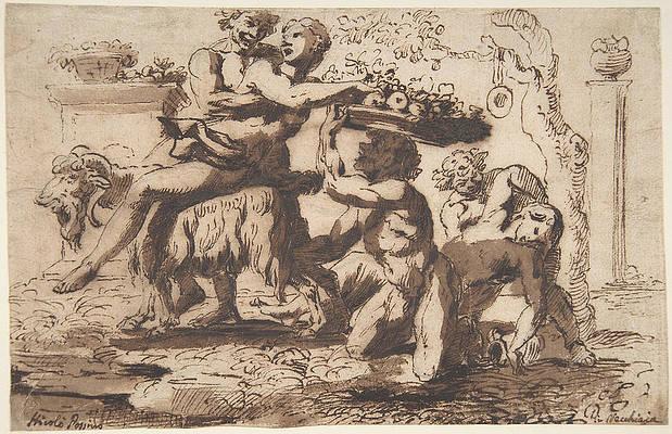 Bacchanal Print by Nicolas Poussin