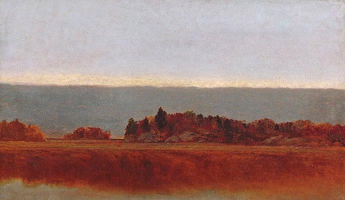 Salt Meadow in October Print by John Frederick Kensett