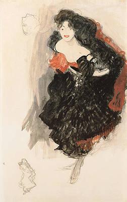 Study for Judith II Print by Gustav Klimt