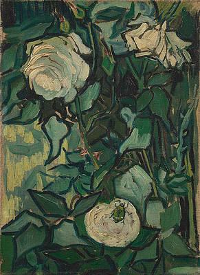 Roses Print by Vincent van Gogh