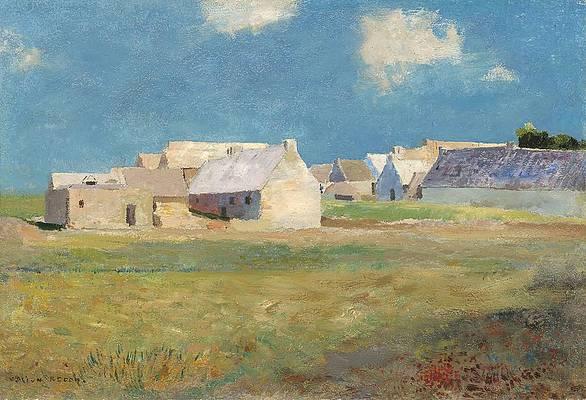 Breton Village Print by Odilon Redon