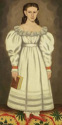 Girl of the Bangs-Phelps Family Print by Erastus Salisbury Field