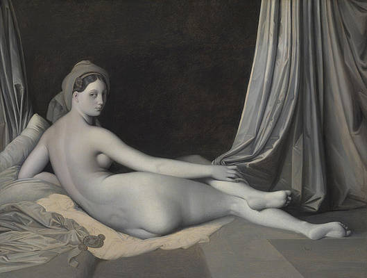 Odalisque in Grisaille Print by Jean-Auguste-Dominique Ingres