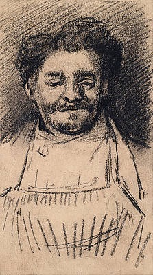 Head of a Man Print by Vincent van Gogh