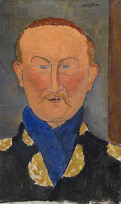 Leon Bakst Print by Amedeo Modigliani