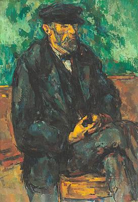 The Gardener Vallier Print by Paul Cezanne