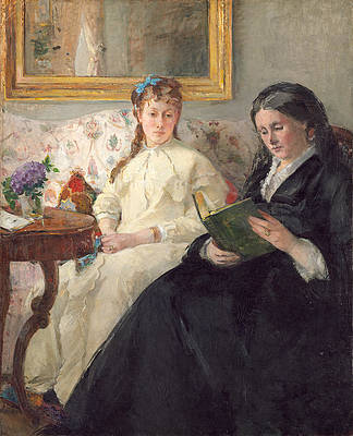 The Mother and Sister of the Artist Print by Berthe Morisot