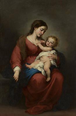 Virgin And Child Print by Bartolome Esteban Murillo