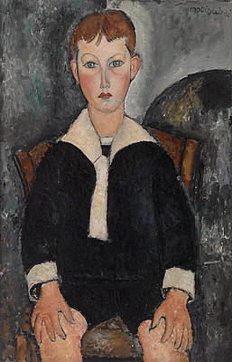 Boy in Sailor Suit Print by Amedeo Modigliani