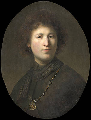 A Young Man with a Chain Print by Rembrandt