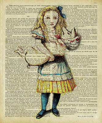 Alice in wonderland king of hearts vintage style metal wall plaque sign