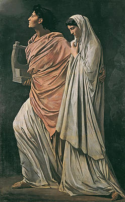 Orpheus and Eurydice Print by Anselm Feuerbach