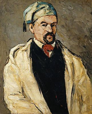 Antoine Dominique Sauveur Aubert , the Artist's Uncle Print by Paul Cezanne