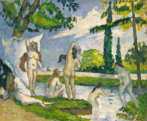 Bathers 2 Print by Paul Cezanne