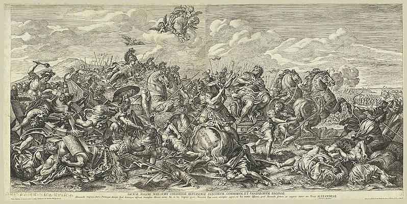 Battle of Arbella Print by Pietro Aquila