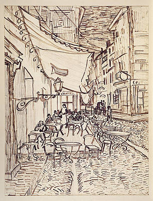 Cafe Terrace at Night 2 Print by Vincent van Gogh