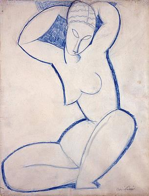 Caryatid 3 Print by Amedeo Modigliani