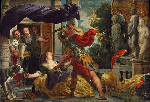 Circe and Odysseus Print by Jacob Jordaens