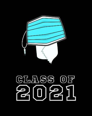 Graduation Cap Drawing - Class Of 2021 Graduation Cap by Grace Hunter