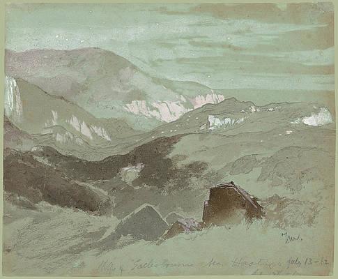 Cliffs Of Ecclesbourne Near Hastings Print by Thomas Moran