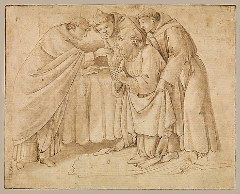 Communion of Saint Jerome Print by Workshop of Sandro Botticelli