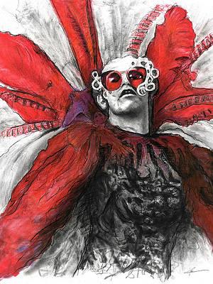 Realistic Flower Drawing - Elton John by Christian Klute
