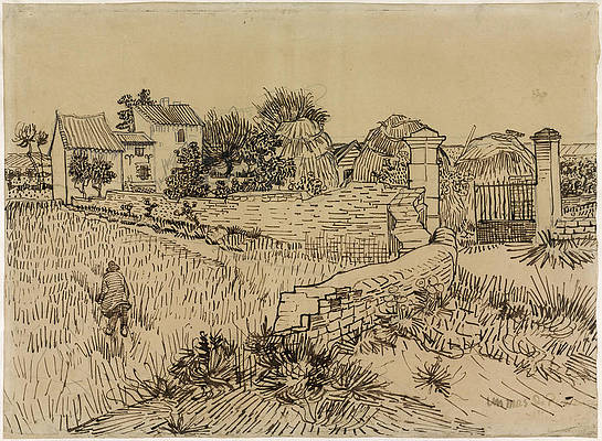 Farm in Provence Print by Vincent van Gogh