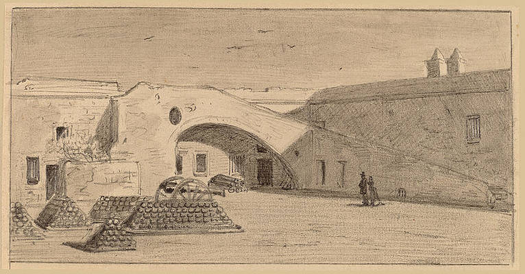 Fort Marion, Florida Print by James Wells Champney