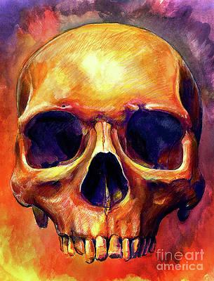 Human Skull Paintings Fine Art America