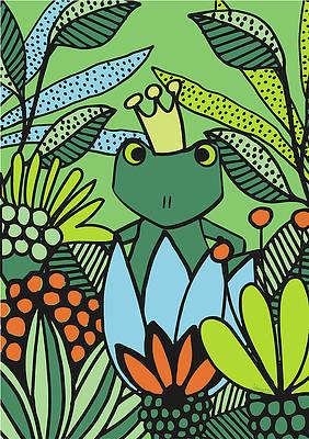 Рисунок дикого цветка - Kiss me Baby Frog Prince от Johanna Virtanen