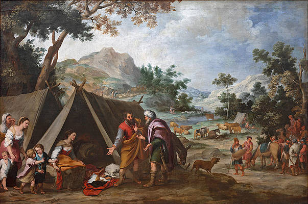 Laban Searching for his Stolen Household Gods Print by Bartolome Esteban Murillo
