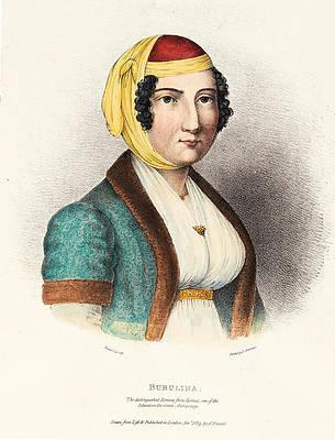 Laskarina Bouboulina Print by Adam de Friedel