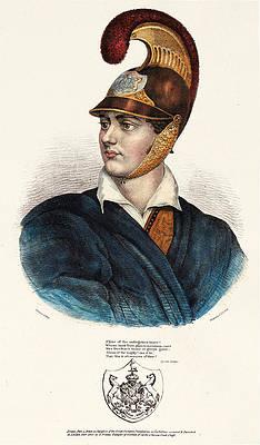 Lord Byron Print by Adam de Friedel