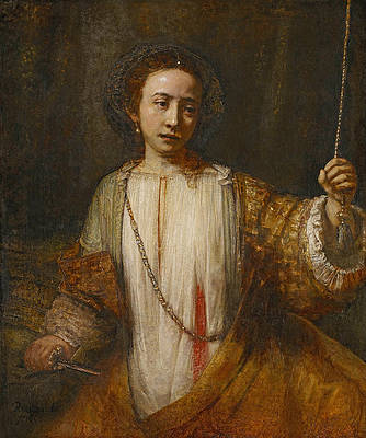 Lucretia 2 Print by Rembrandt