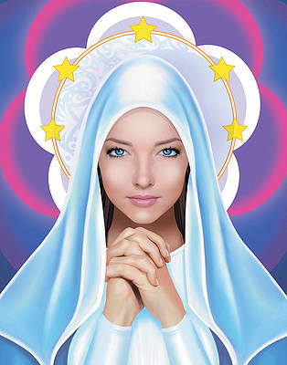 Mary. Blessed Mother.  by Jason Mccreadie