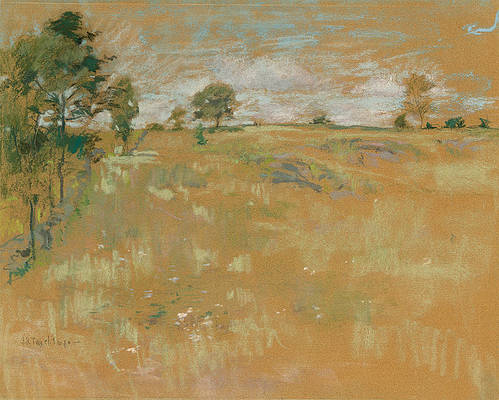 Pastures, Greenwich, Connecticut Print by John Henry Twachtman