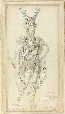 Pittacus The Tyrant In War Costume Print by Gustave Moreau