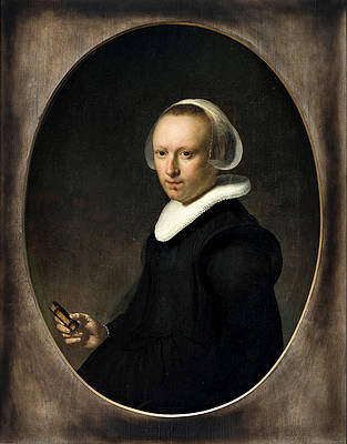 Portrait of a 39-year-old Woman Print by Rembrandt