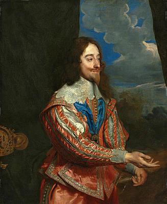 Portrait of Charles I Print by Anthony van Dyck