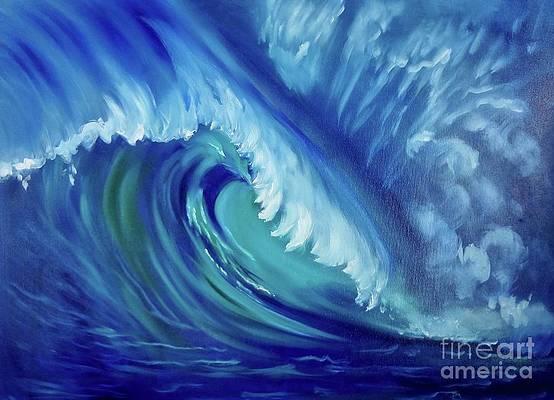 Ride a Big Wave Oahu by Jenny Lee