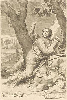 Saint Augustine Print by Claude Mellan