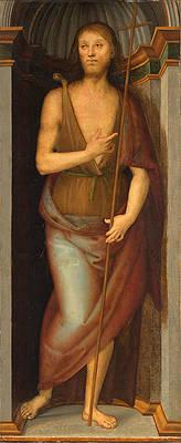 Saint John the Baptist Print by Pietro Perugino