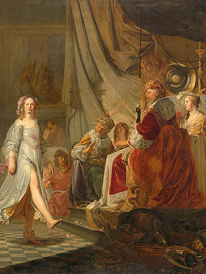 Salome dancing for Herod Print by Hans Horions