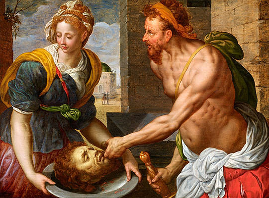 Salome with the head of John the Baptist Print by Gillis Coignet