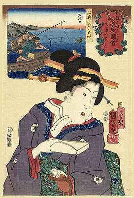 Sea lions from Matsumae Province Print by Utagawa Kuniyoshi