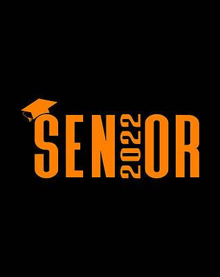 Graduation Cap Drawing - Senior 2022 Orange Graduation Cap Design by Grace Hunter