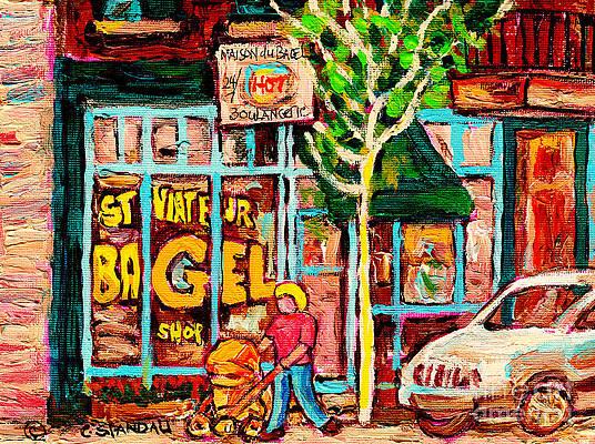 Carole Spandau St Viateur Bagel Wall Art